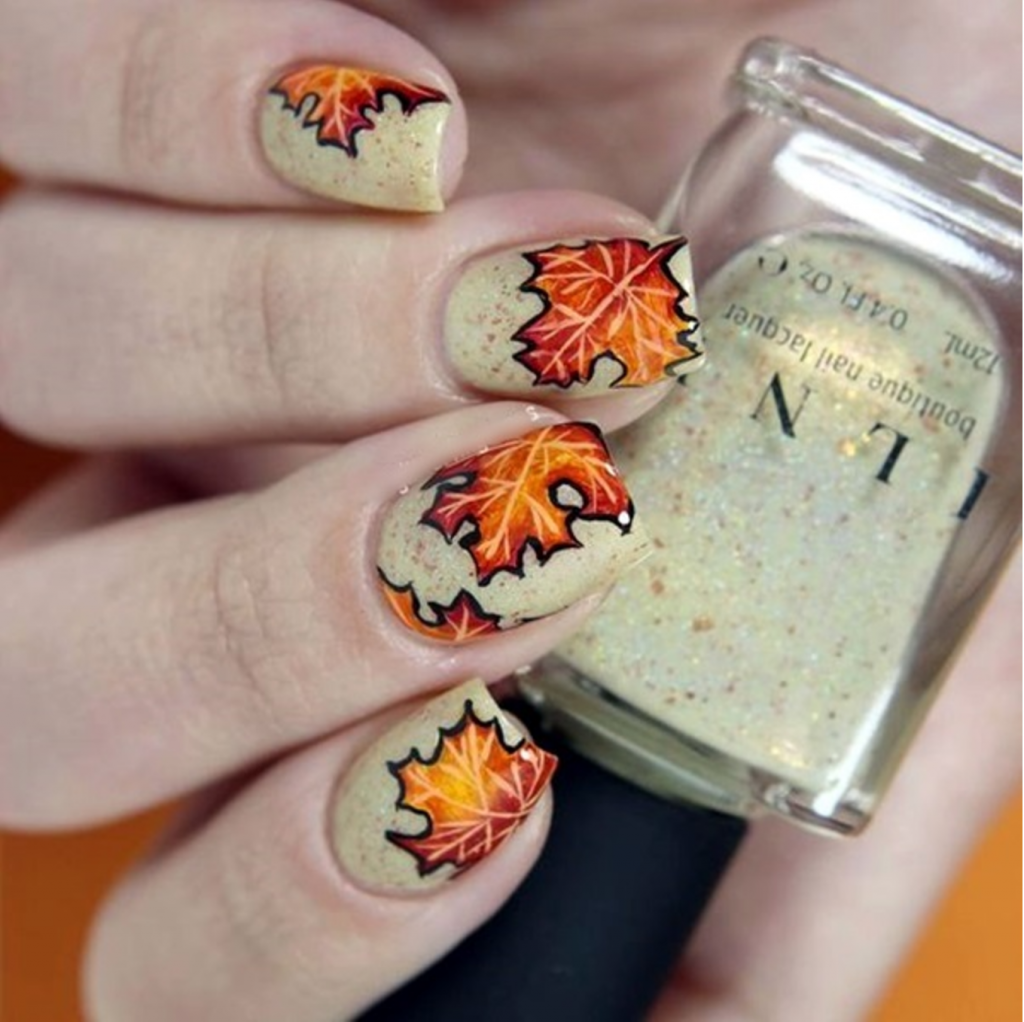 Falling Leaves Falling Nail Designs