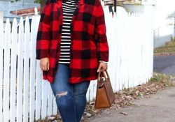 Amazing clothing ideas for plaid oversized mantelli and torn jeans to perfect your style