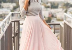 30 ideas for a long skirt for an office dress »SeasonOutfit