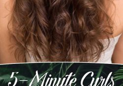 5 minutes for curls This technique allows you to take the chaos of dreams!