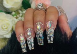 Super Trendy 23 clear acrylic nails