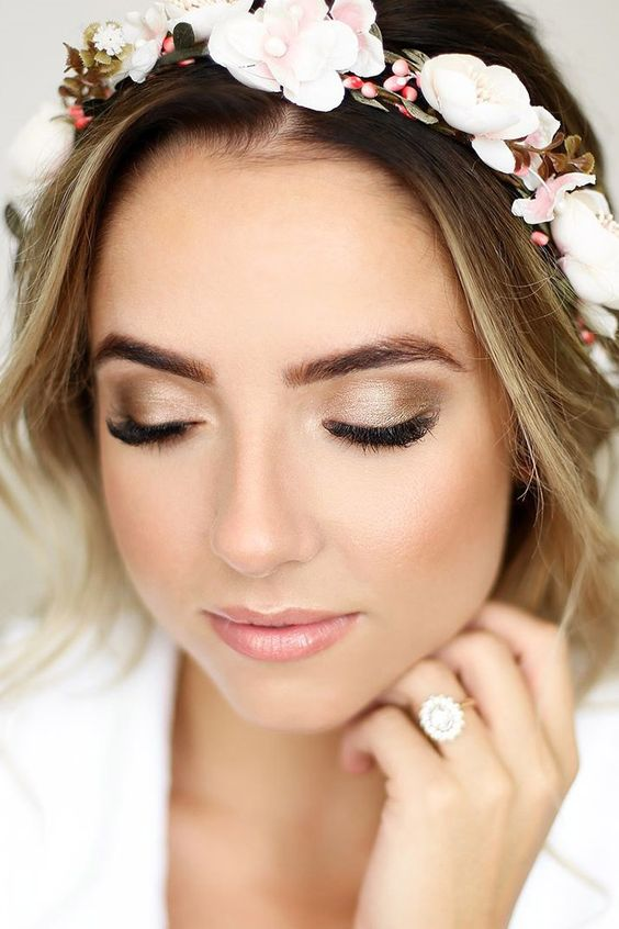 Low key bride makeup