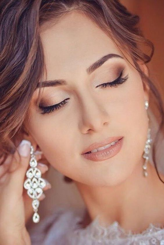 Matte finish bridal makeup