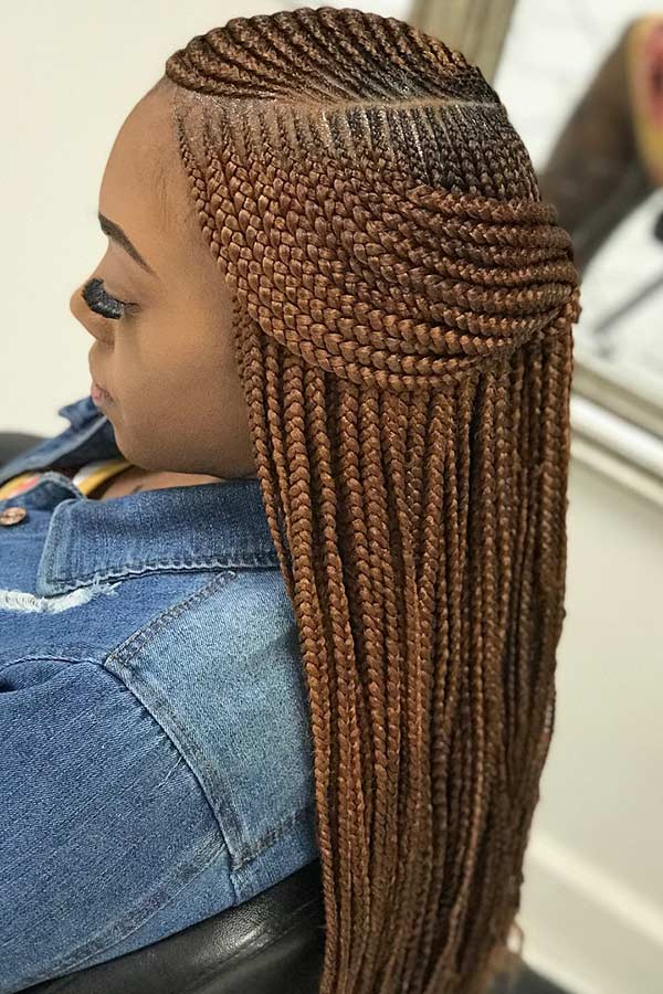 Feed with two-layer braids