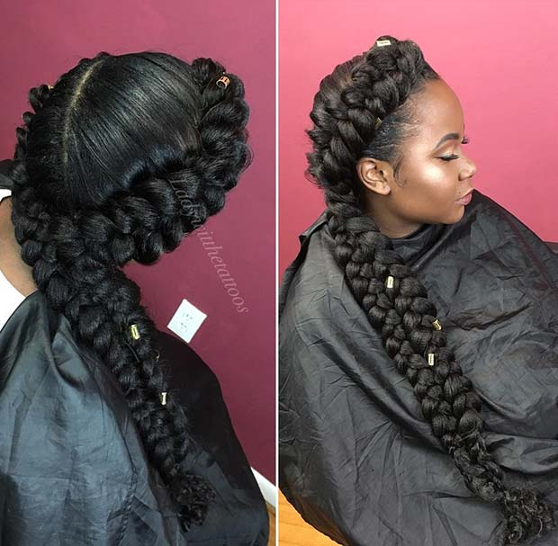 Stunning braided hairstyle