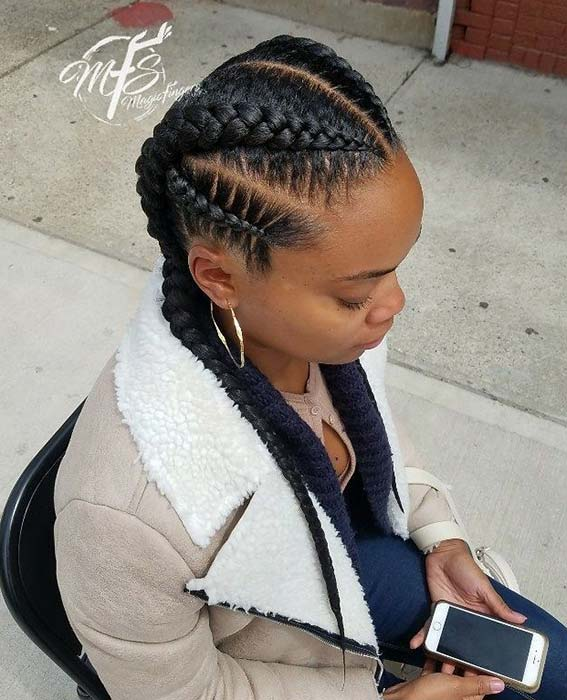 Multi-Braid Hairstyle