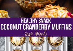 Coconut cranberry muffins (1 bowl)