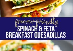 Quesadillas with spinach and white breakfast (freezer)