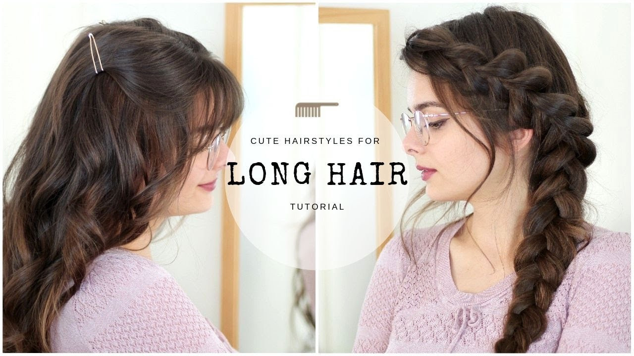 Sweet hairstyles for long hair 2020 Sweet and simple hairstyles for long hair