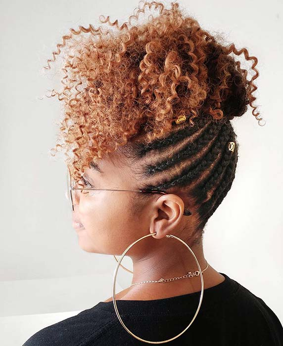 Braided thick curls