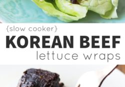 Slow Cooker Korean Beef Salad Wraps with Sesame and Cucumber Salad