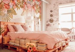 25 tricks for using floral wallpaper for bohemian bedrooms