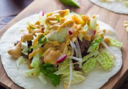 Ginger tacos with peanut sauce (30 minutes)