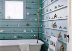How to decorate modern bathrooms in beach houses