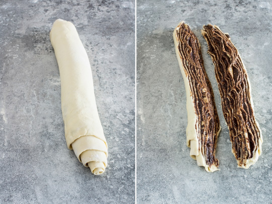 Roll, cut and knit yeast dough - simple recipe # yeast dough