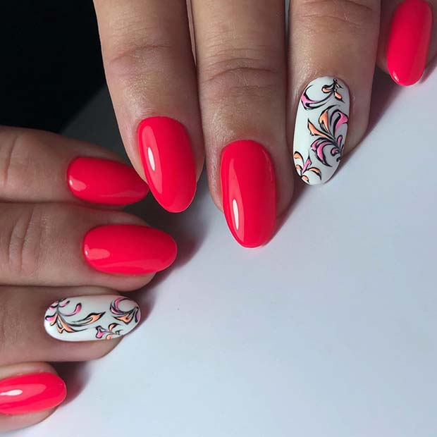Neon white pink with white accents