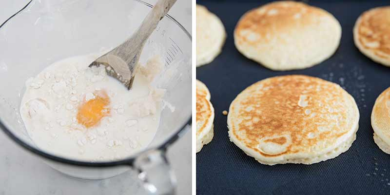 Make pancakes on the grill