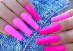 23 neon pink nails and ideas for the entire summer length