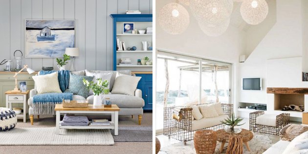 Are you interested in the atmosphere by the sea in the living room?
