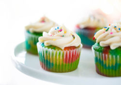 EASY Rainbow Cupcakes (made with cake mix!)