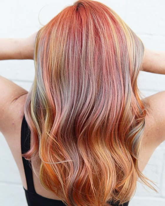 Pink and multi-colored features