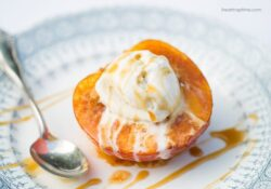 SIMPLY baked peach with cinnamon candy