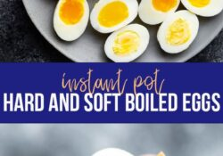 Instant pot of hard and soft boiled egg