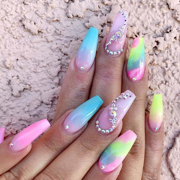 Glam Color Nails