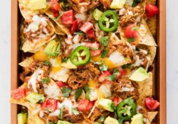 EASY Sheet Pan BBQ Nachos