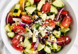 EASY Greek Salad with Homemade Dressing