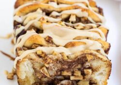 Apple Pull Apart Bread with Caramel Icing