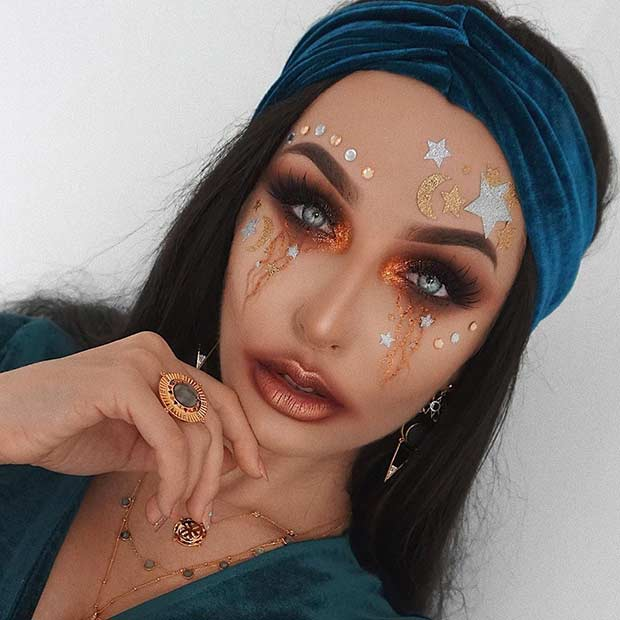 Simple and Pretty Fortune Teller Makeup