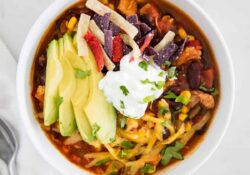 EASY Chicken Taco Soup (30 minutes!)