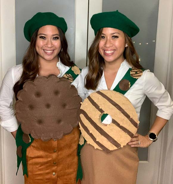 Girl Scout Cookies Duo Costume Idea