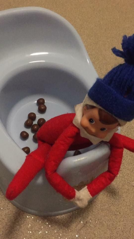 Naughty elf on the shelf ideas - elf pooping