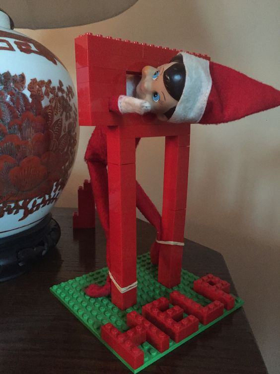 Funny elf on the shelf pictures