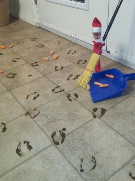 Funny elf on the shelf ideas - cleaning elf