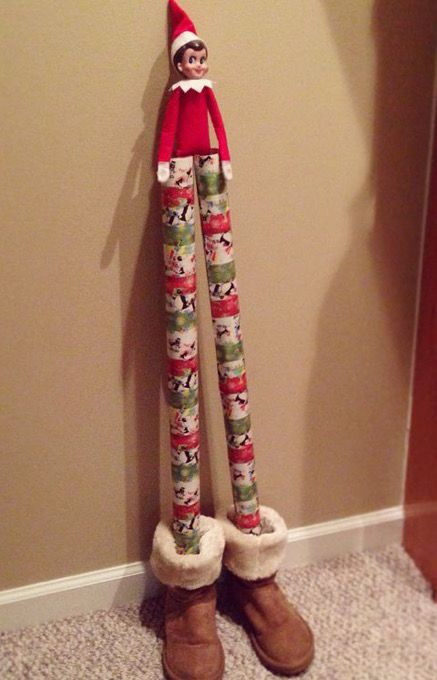 Funny tall elf on the shelf