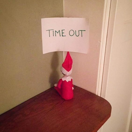 Easy elf on the shelf ideas - elf on time out