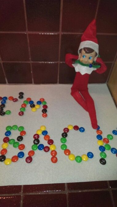 Easy elf on the shelf ideas with candy