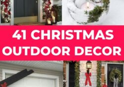 40+ Best DIY Christmas Outdoor Decorations That Your Family Will Love