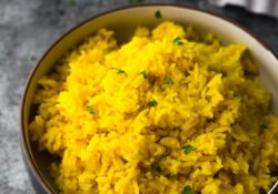 Turmeric Yellow Rice (great + fluffy!)
