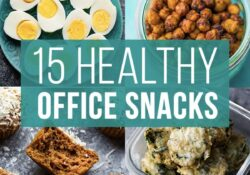 15 Healthy Office Snacks | sweetpeasandsaffron.com