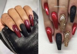 23 Red and Black Nails to Copy in 2021