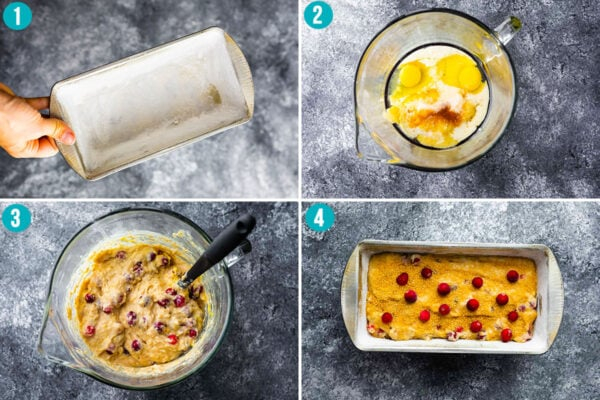 Collage picture shows how to make cranberry nut