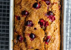 Healthy Lemon Cranberry Bread (1 cup!)