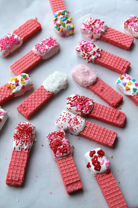 Easy Pink Wafer Valentine's Day Sweets