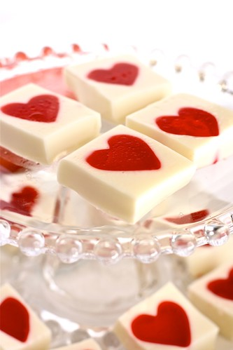 Simple sweets for Valentine's Day: Jello Hearts for Valentine's Day