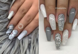 23 beautiful ways to wear gray nails in 2021