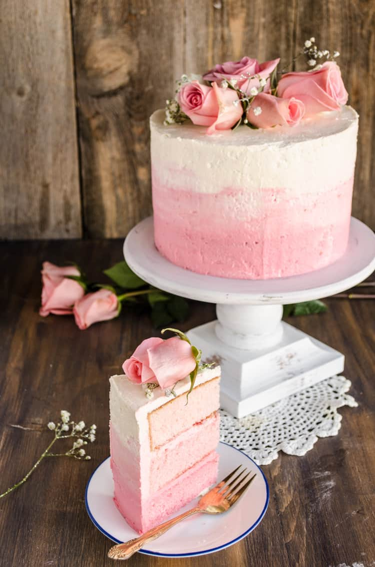 Strawberry Pink Ombre Cake